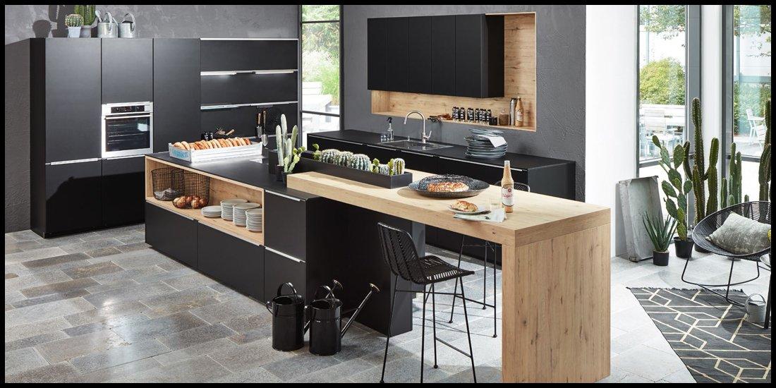 industrial kueche zurbr. Black Bedroom Furniture Sets. Home Design Ideas