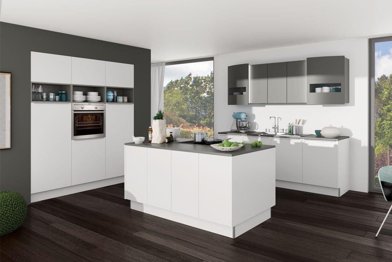 dk405 weiss quarzgrau zurbr. Black Bedroom Furniture Sets. Home Design Ideas