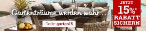 15% Gartenmöbel-Rabattaktion