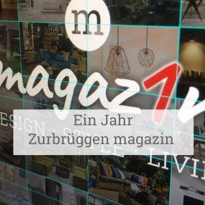 Ein Jahr Zurbrüggen magazin