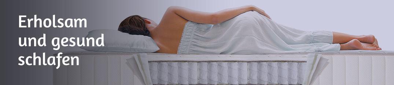 Erholsam & gesund schlafen mit der richtigen Matratze