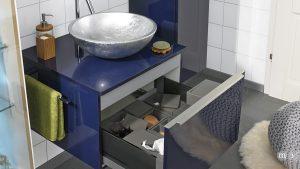Eschebach - Beispiel für Aufsatzbecken und Stauraum