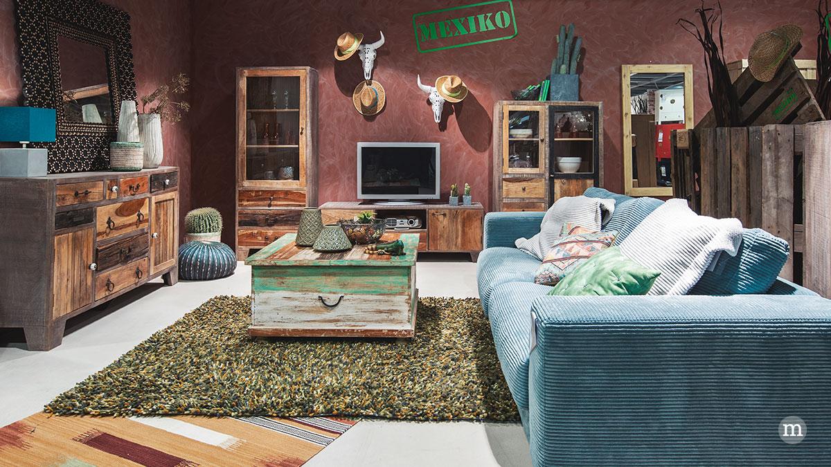 Candy Polstermöbel Big-Sofa | Giga Wandspiegel | Z2 Couchtisch Juliane