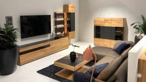 Möbelkombinationen aus Holz und Glas
